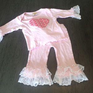 COPY - Haute baby boutique outfit sz 6/9 months